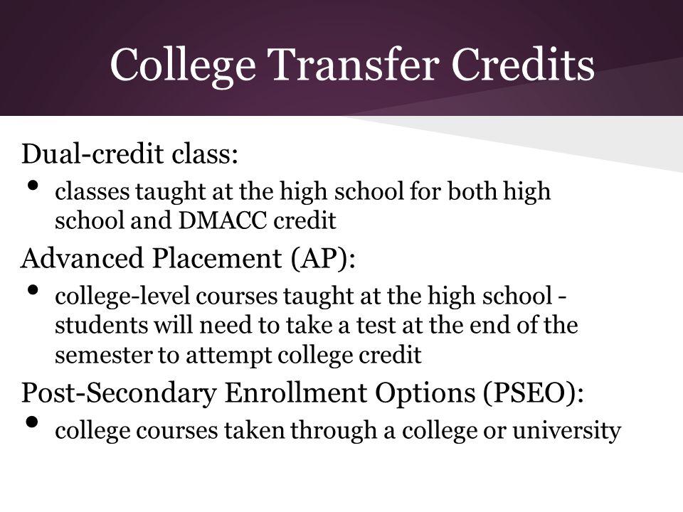College Transfer Credits