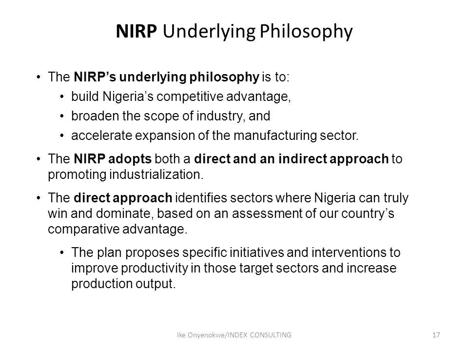 NIRP Underlying Philosophy