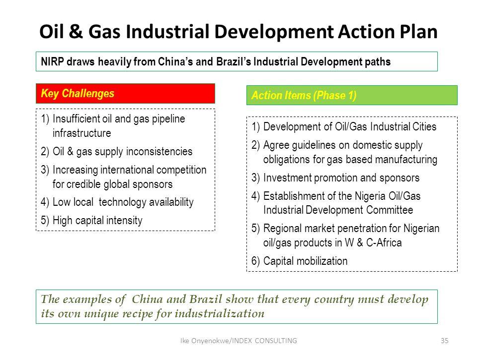 Oil & Gas Industrial Development Action Plan