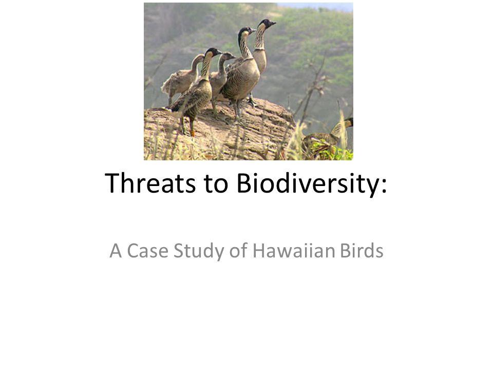 Threats to Biodiversity: