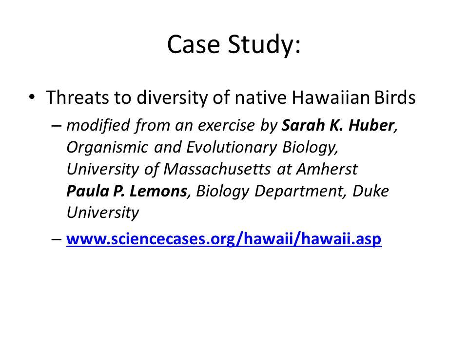 Case Study: Threats to diversity of native Hawaiian Birds