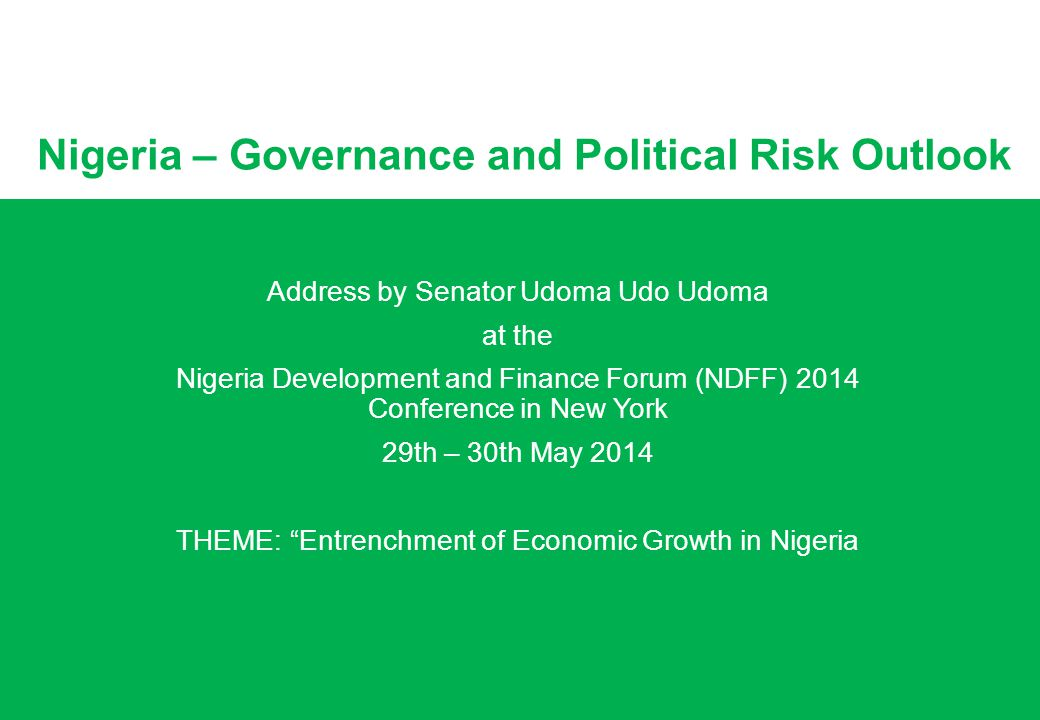 Nigeria – Governance and Political Risk Outlook