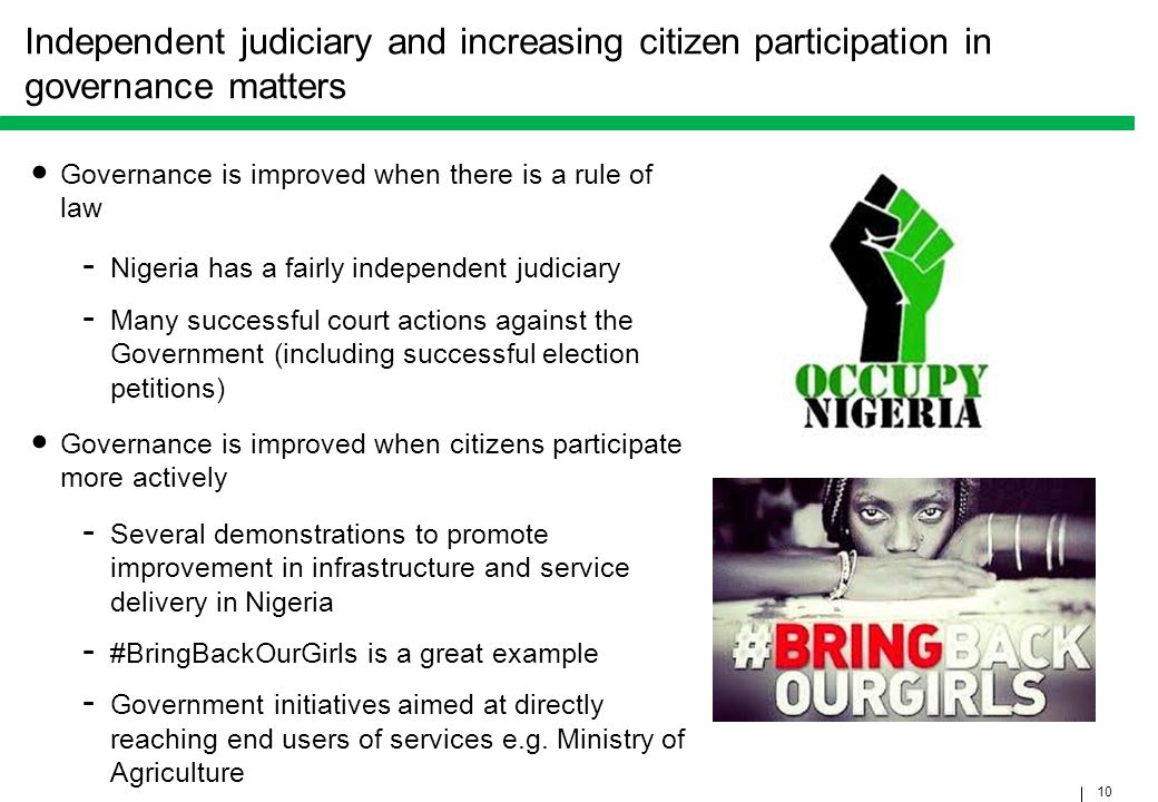 Independent judiciary and increasing citizen participation in governance matters