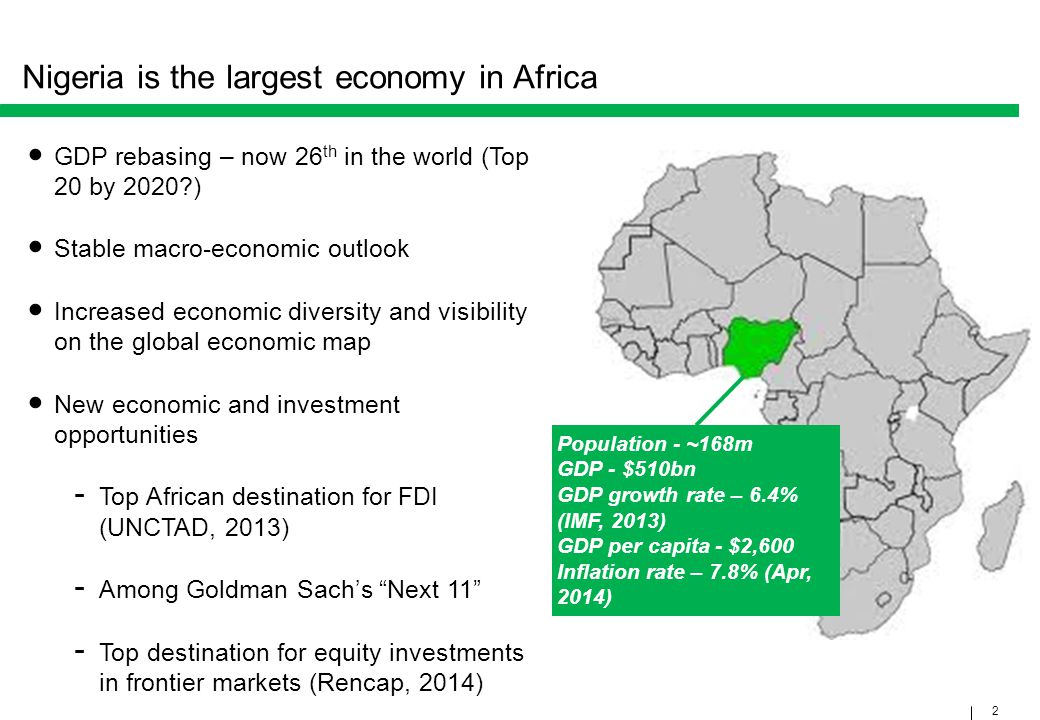 Nigeria is the largest economy in Africa