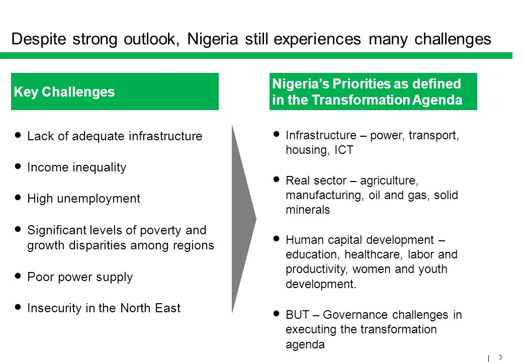 Despite strong outlook, Nigeria still experiences many challenges