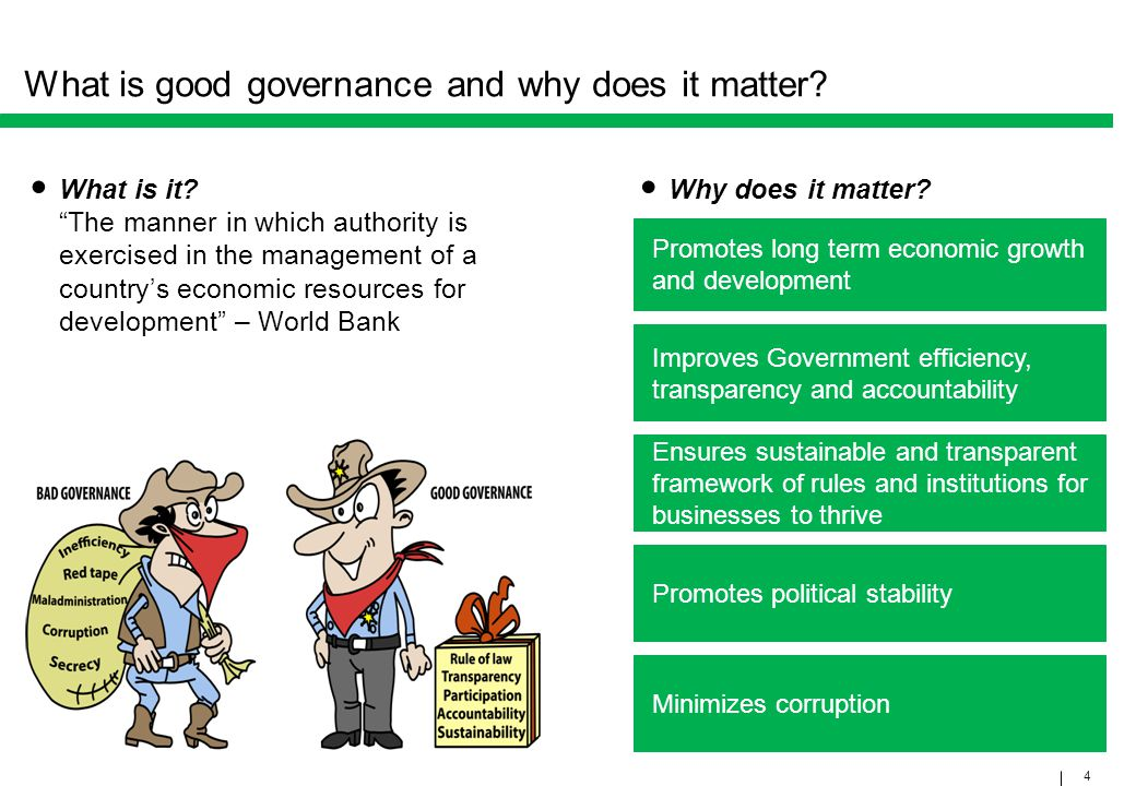 What is good governance and why does it matter