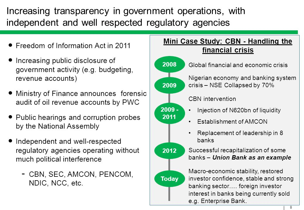 Mini Case Study: CBN - Handling the financial crisis