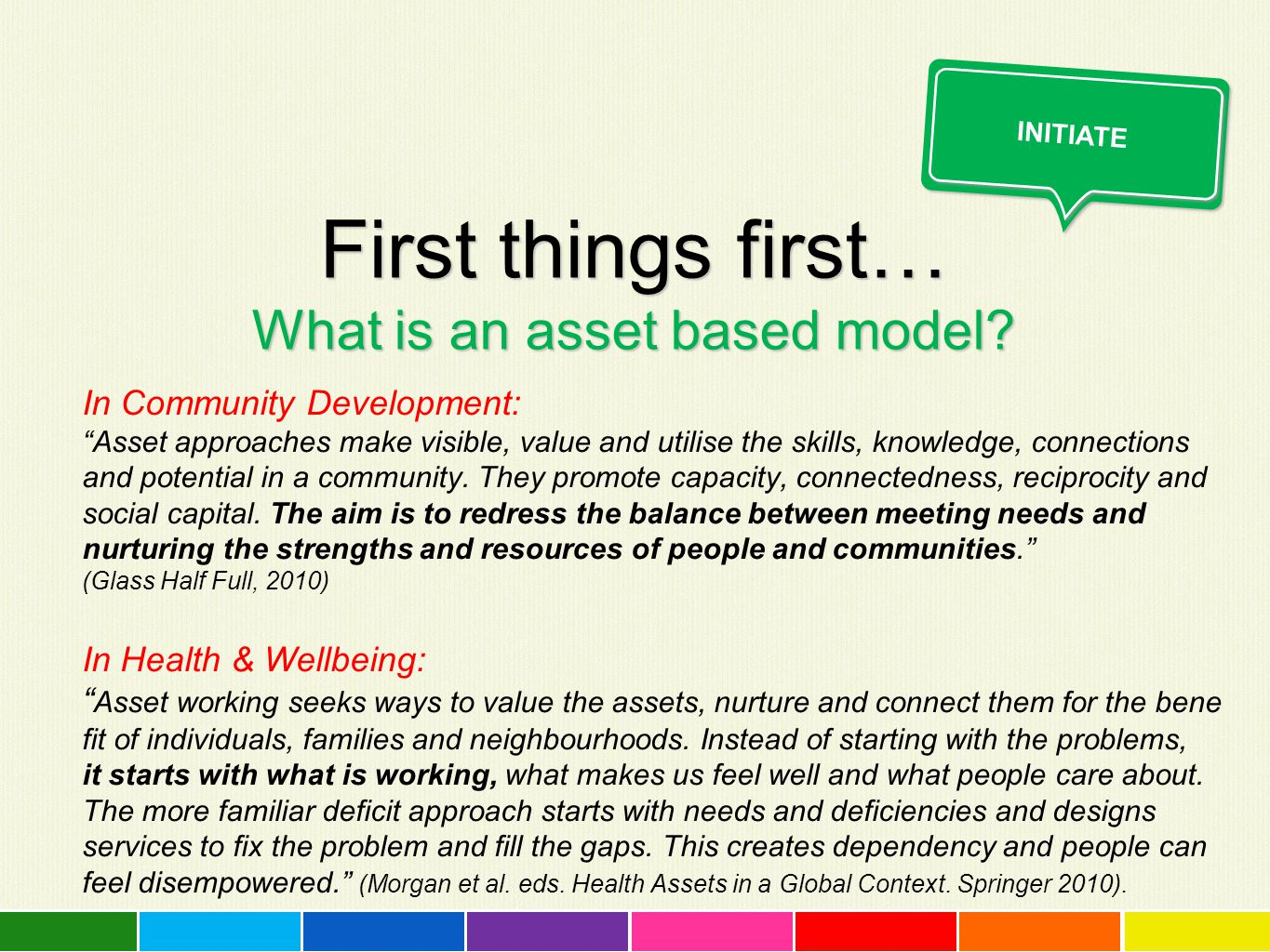 First things first… What is an asset based model