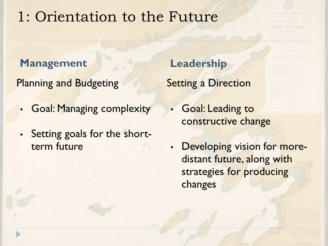 1: Orientation to the Future