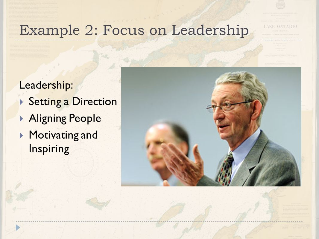 Example 2: Focus on Leadership
