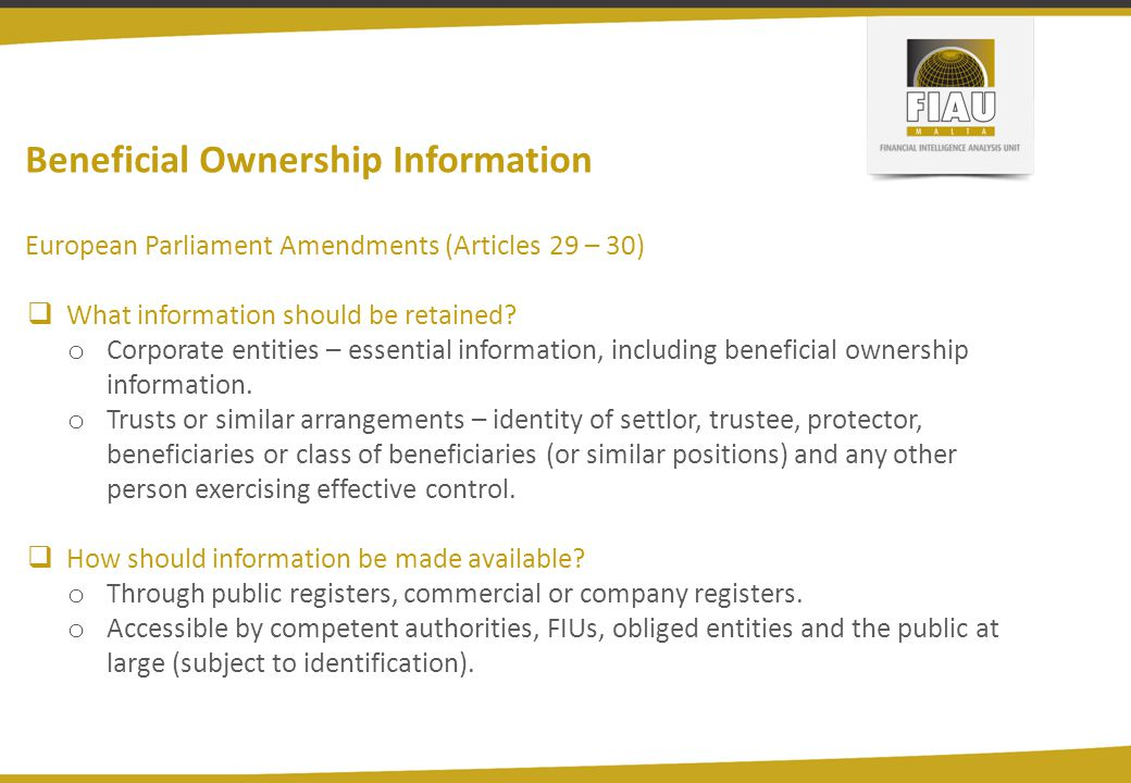 Beneficial Ownership Information