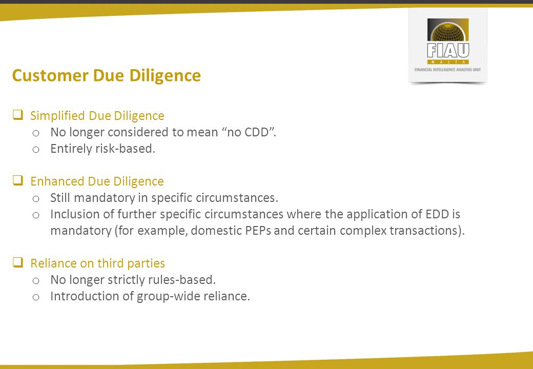 Customer Due Diligence