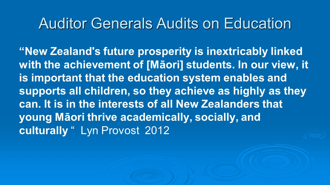 Auditor Generals Audits on Education
