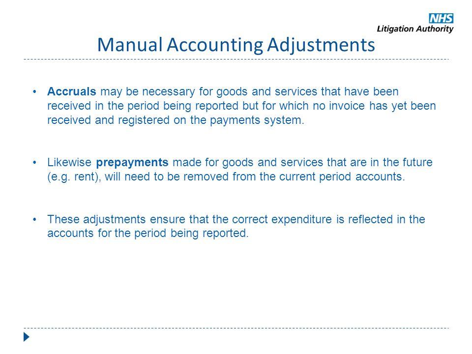 Manual Accounting Adjustments