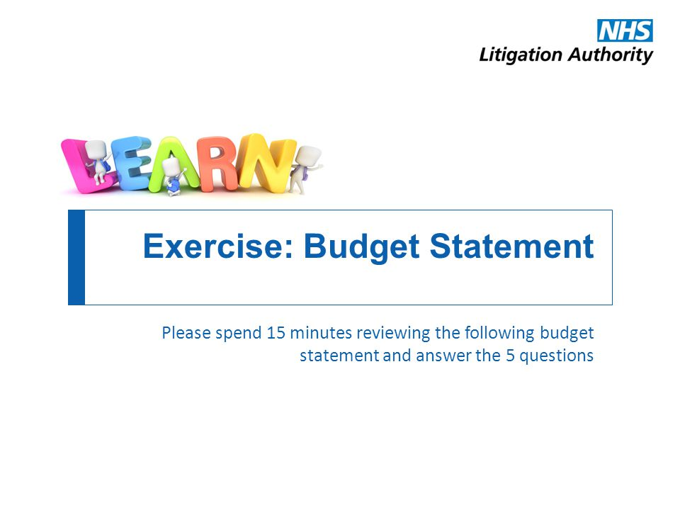 Exercise: Budget Statement