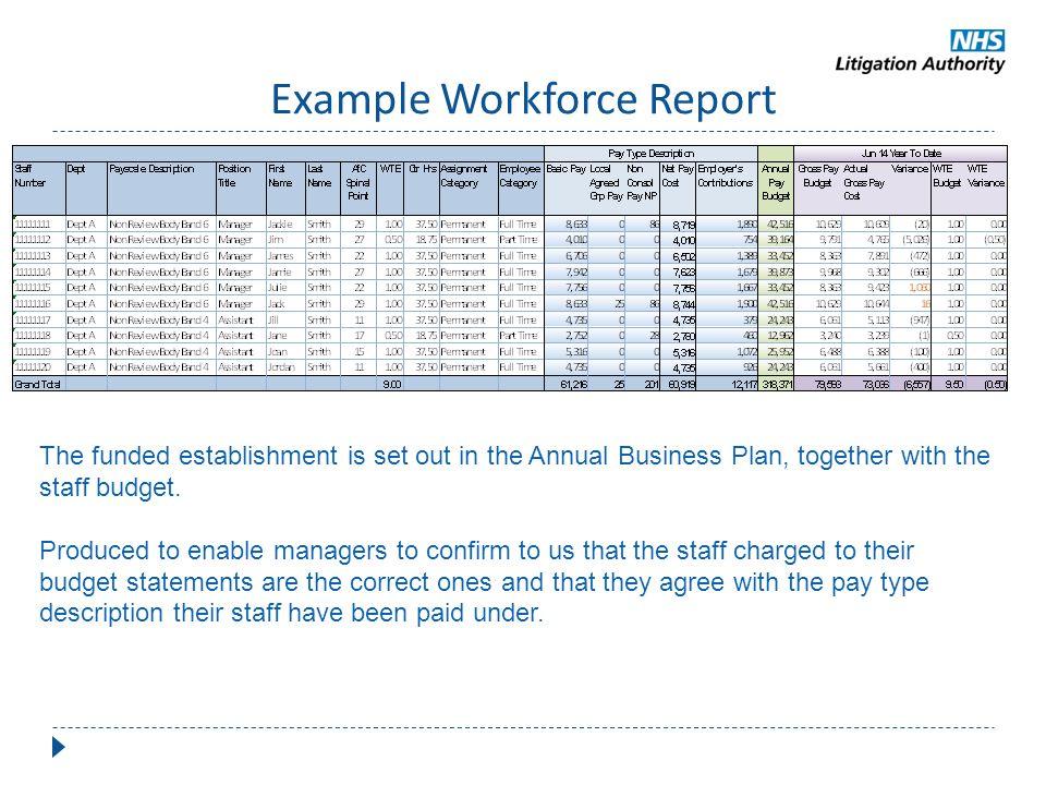 Example Workforce Report