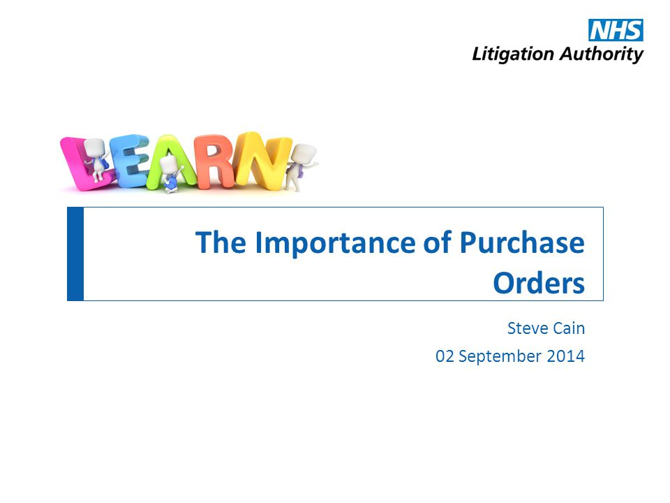 The Importance of Purchase Orders