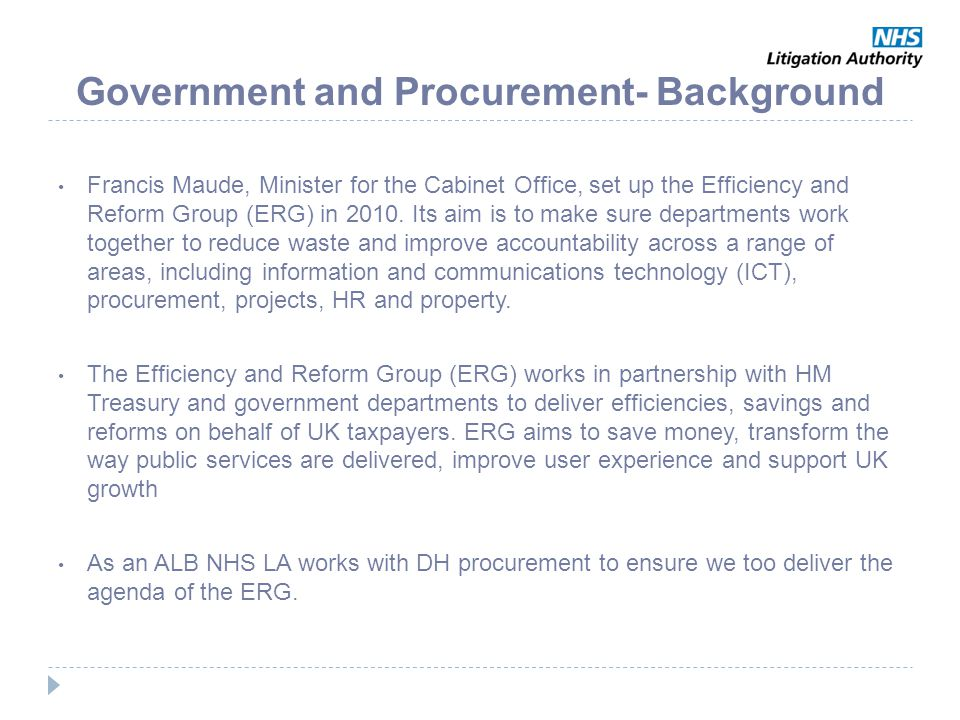 Government and Procurement- Background