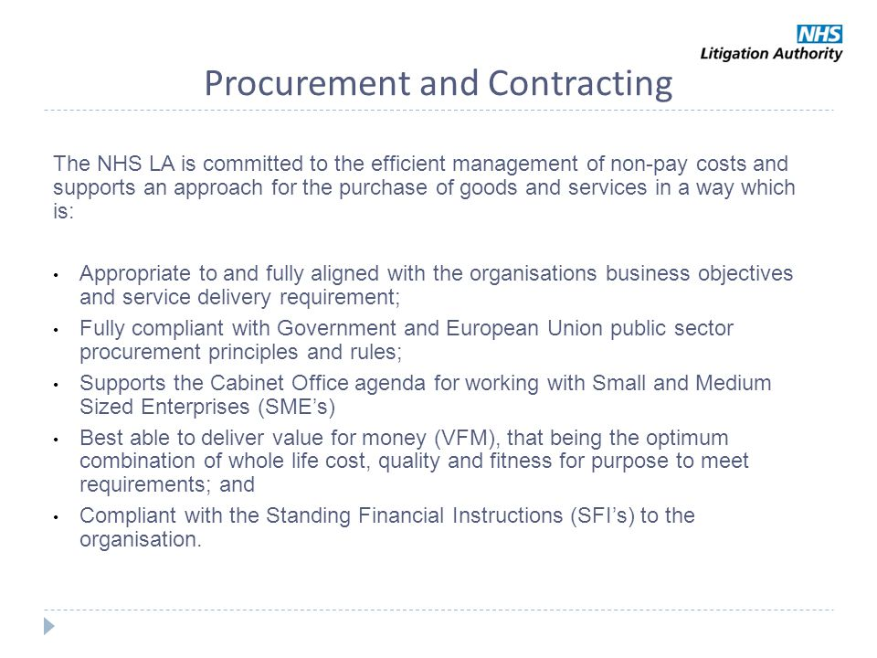 Procurement and Contracting