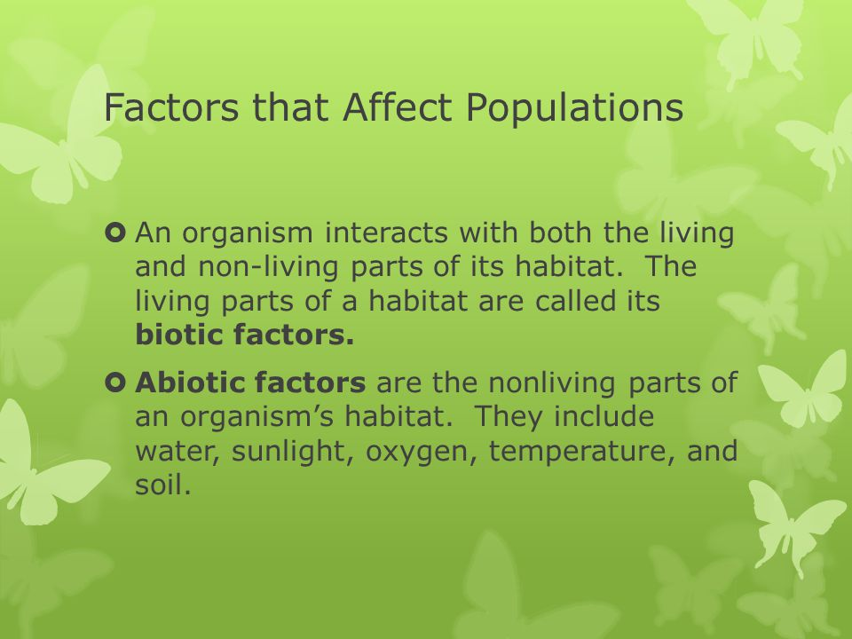 Factors that Affect Populations