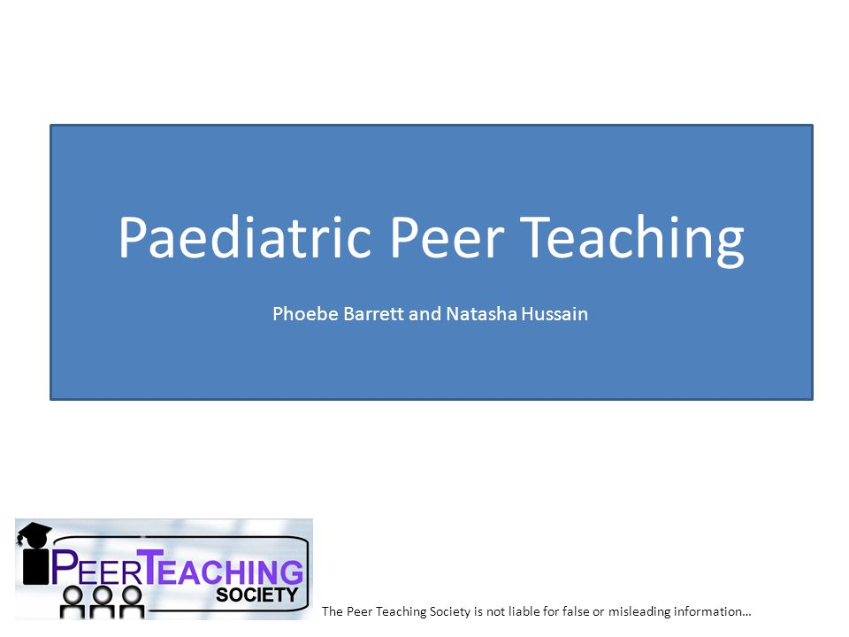 Paediatric Peer Teaching