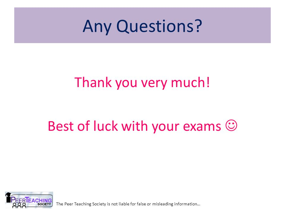 Thank you very much! Best of luck with your exams 