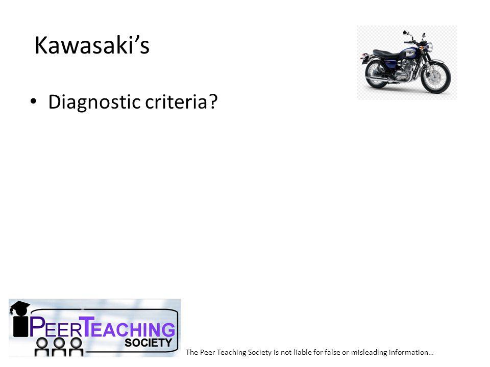 Kawasaki's Diagnostic criteria