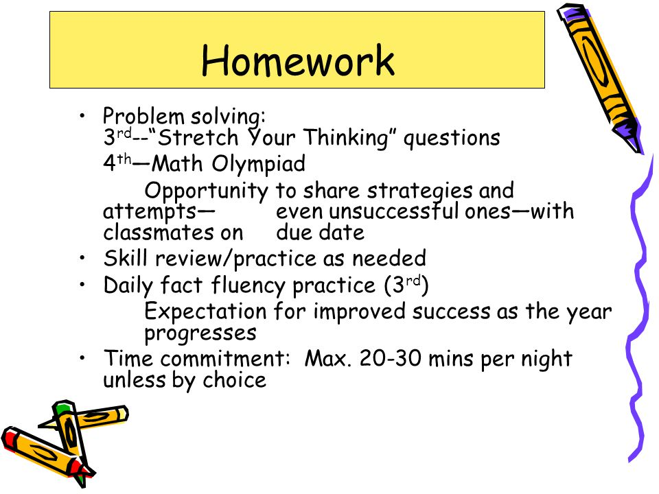 Homework Problem solving: 3rd-- Stretch Your Thinking questions