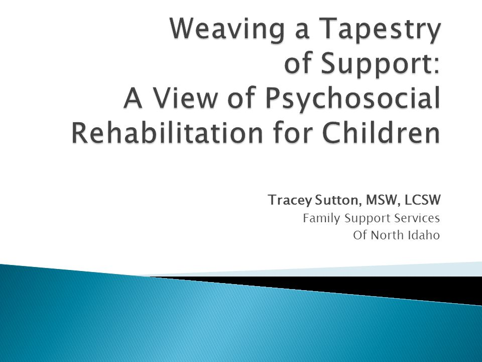 Tracey Sutton, MSW, LCSW Family Support Services Of North Idaho