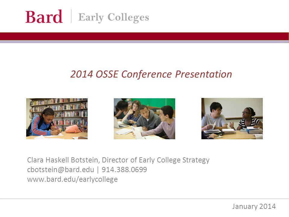 2014 OSSE Conference Presentation