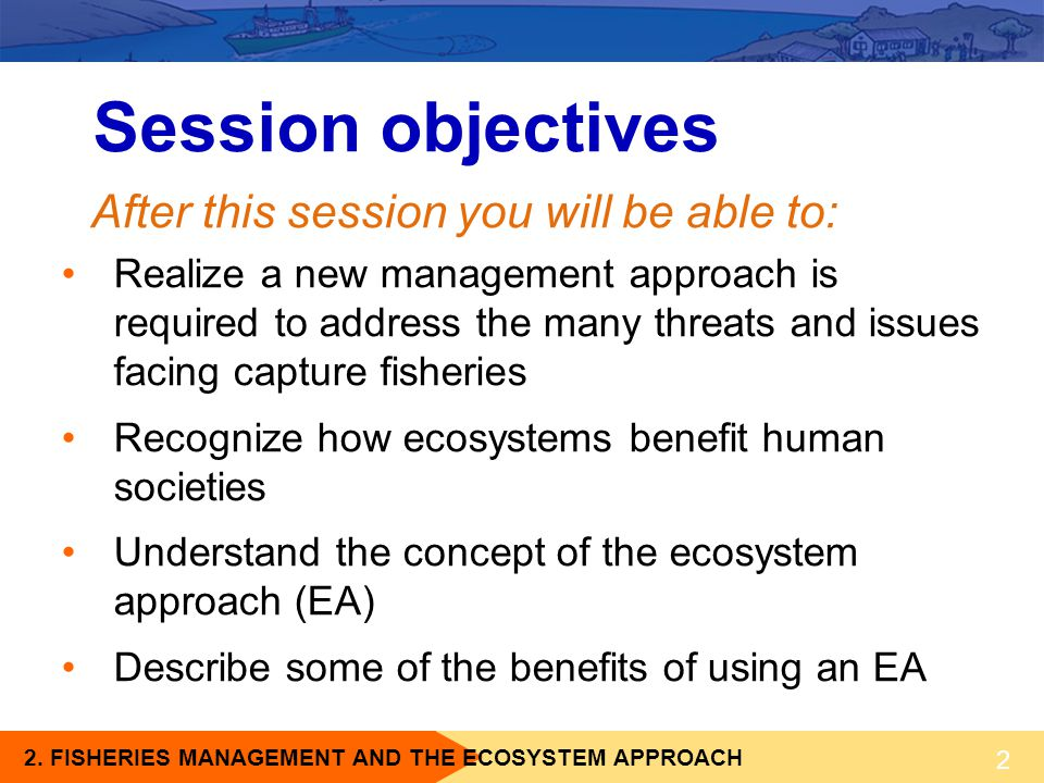Session objectives After this session you will be able to: