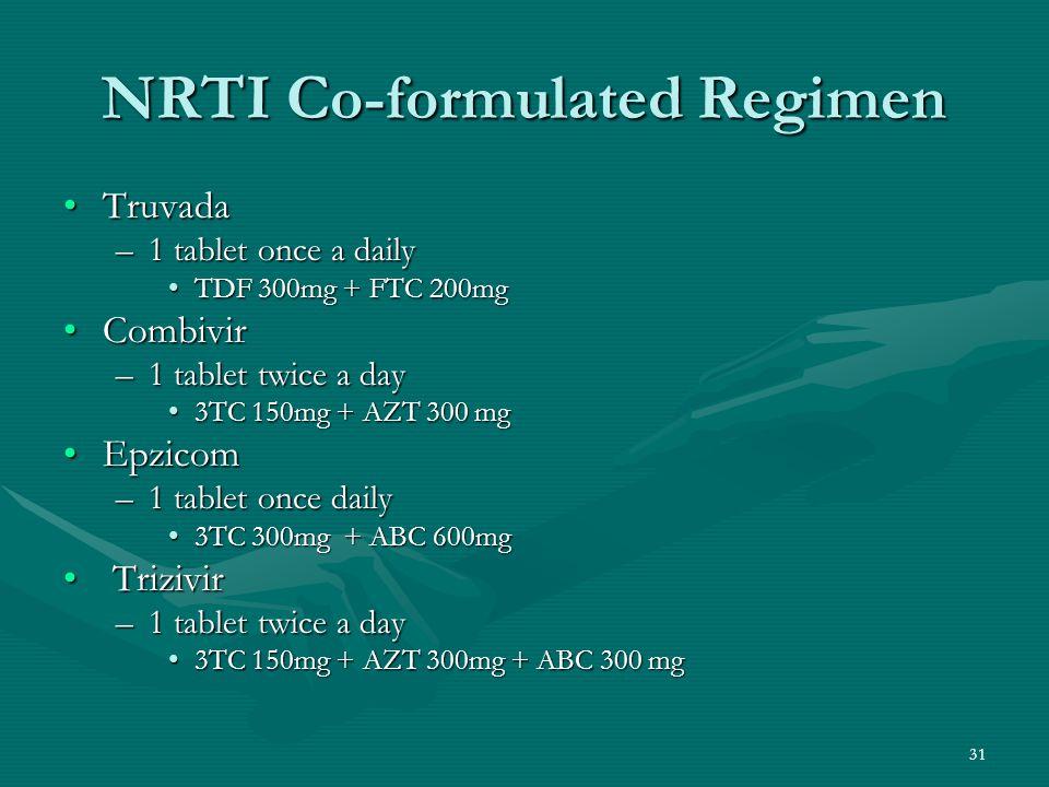 NRTI Co-formulated Regimen