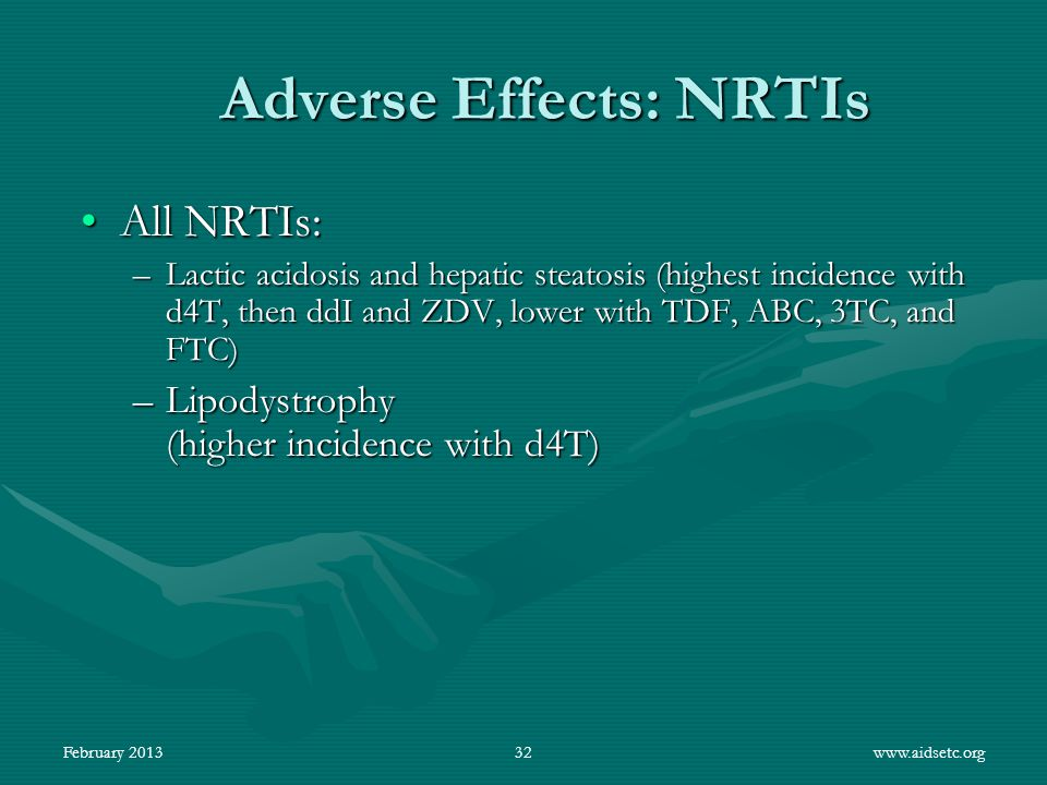 Adverse Effects: NRTIs
