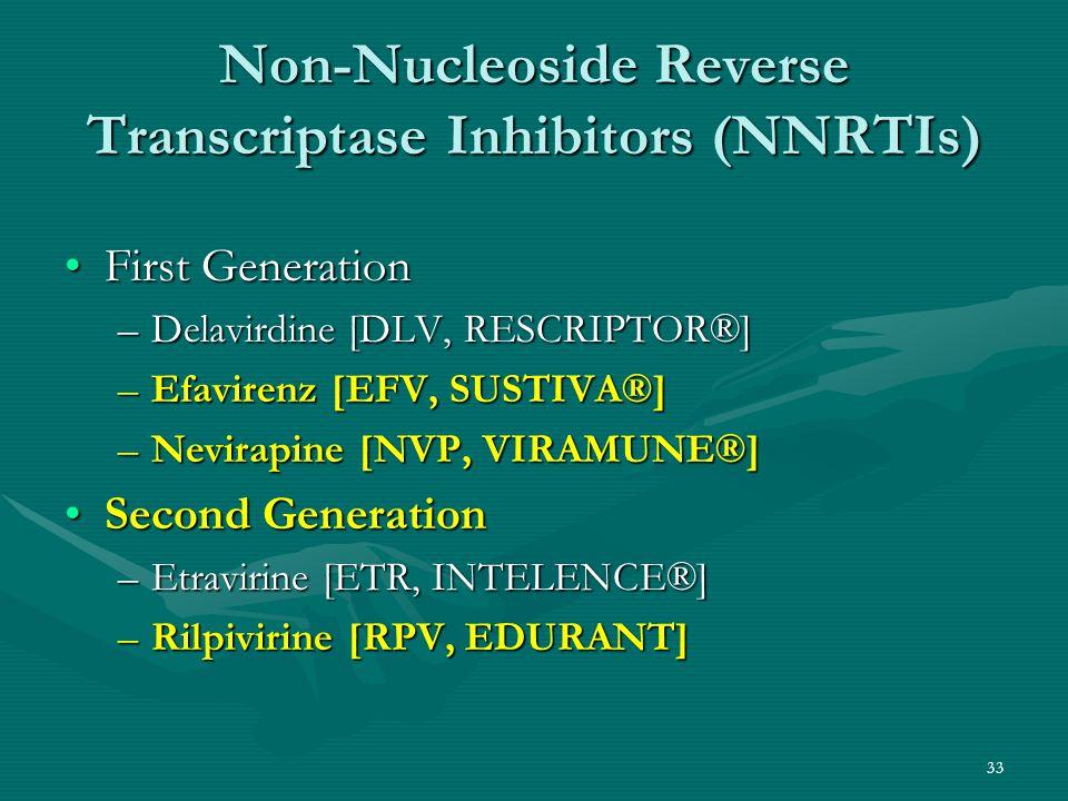 Non-Nucleoside Reverse Transcriptase Inhibitors (NNRTIs)