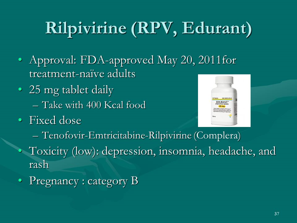 Rilpivirine (RPV, Edurant)