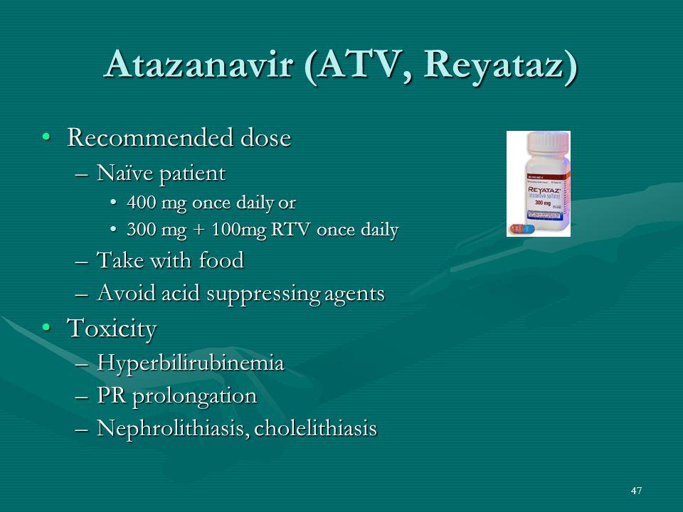 Atazanavir (ATV, Reyataz)