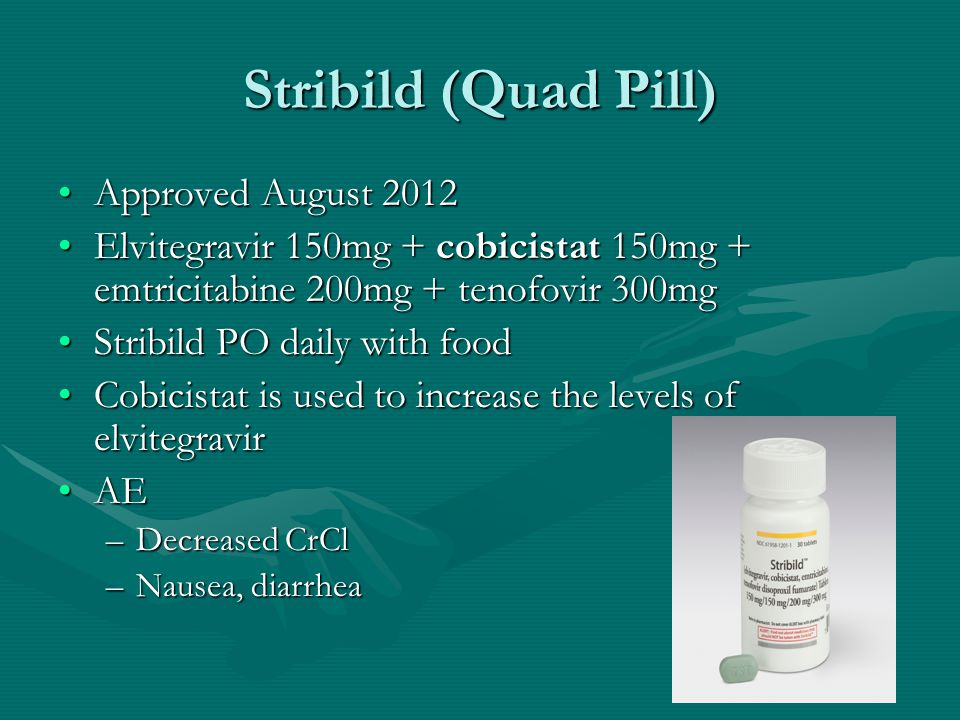 Stribild (Quad Pill) Approved August 2012
