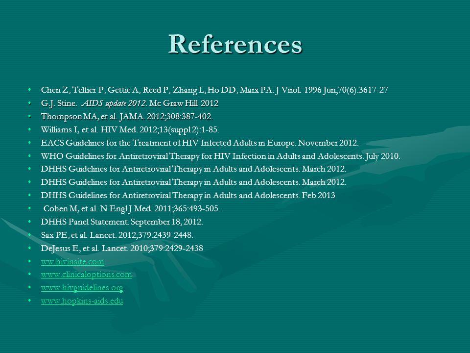 References Chen Z, Telfier P, Gettie A, Reed P, Zhang L, Ho DD, Marx PA. J Virol. 1996 Jun;70(6):3617-27.