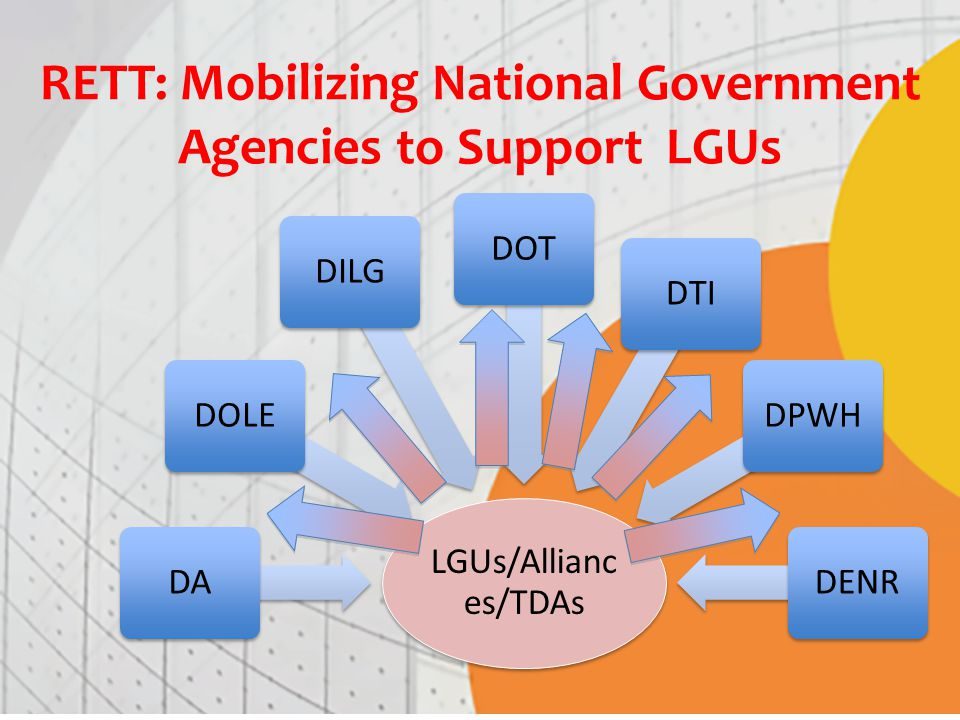 RETT: Mobilizing National Government Agencies to Support LGUs