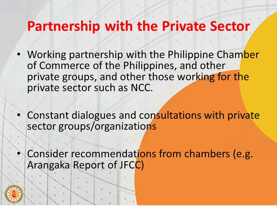 Partnership with the Private Sector