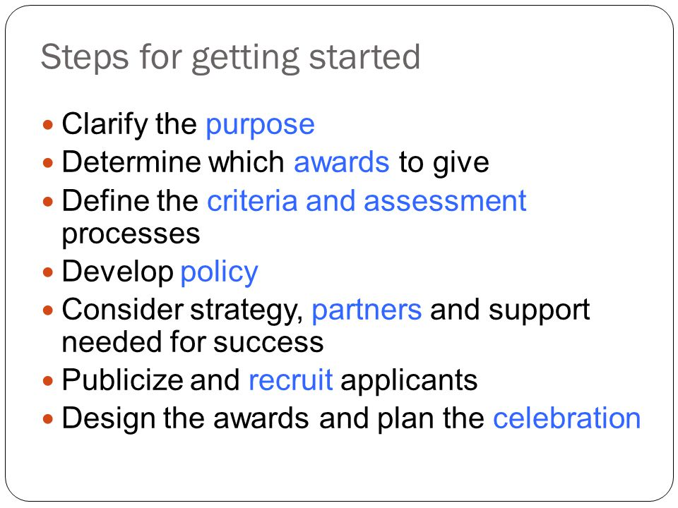 Steps for getting started