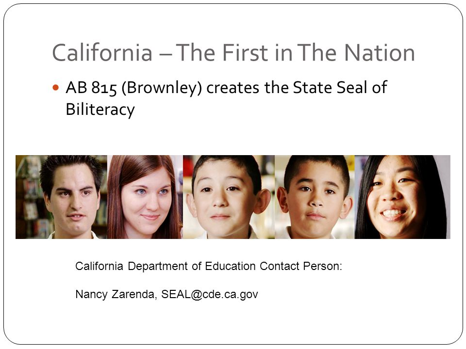 California – The First in The Nation