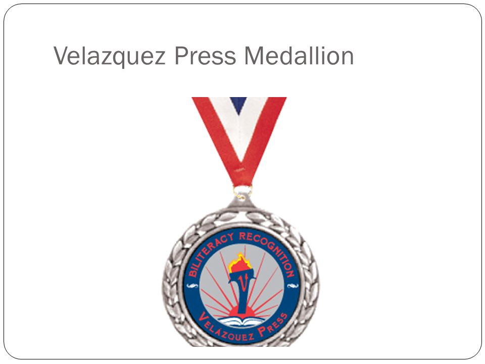 Velazquez Press Medallion
