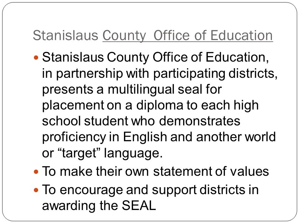 Stanislaus County Office of Education