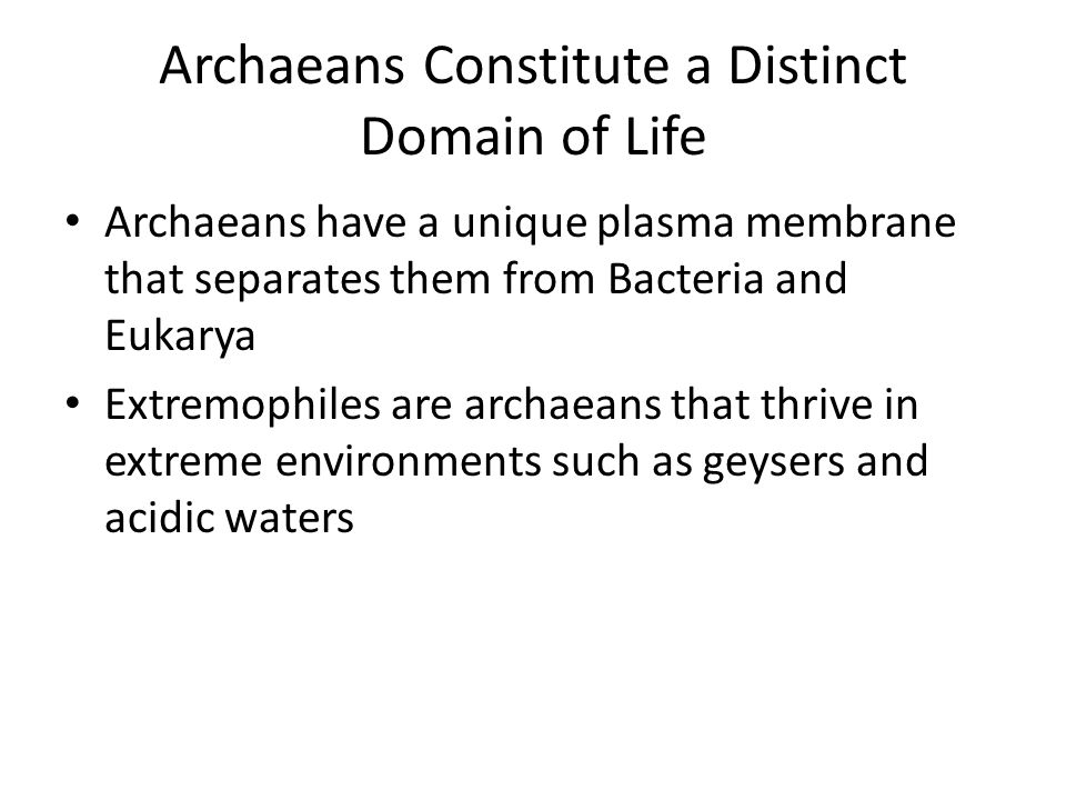 Archaeans Constitute a Distinct Domain of Life