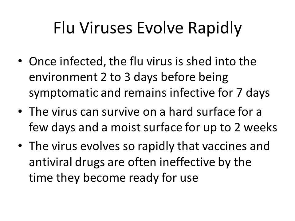 Flu Viruses Evolve Rapidly