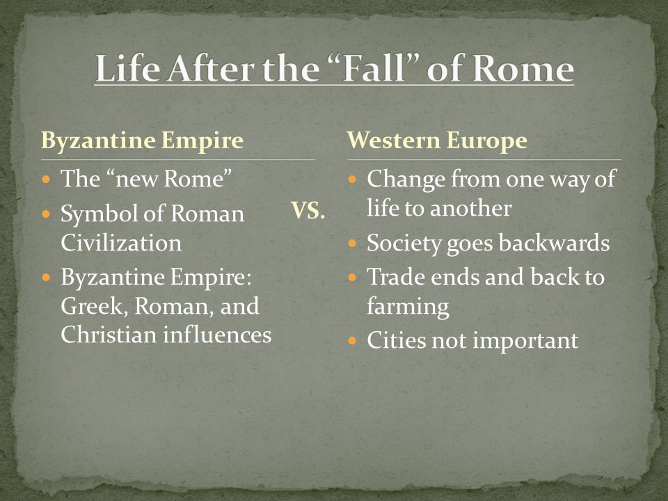 Life After the Fall of Rome