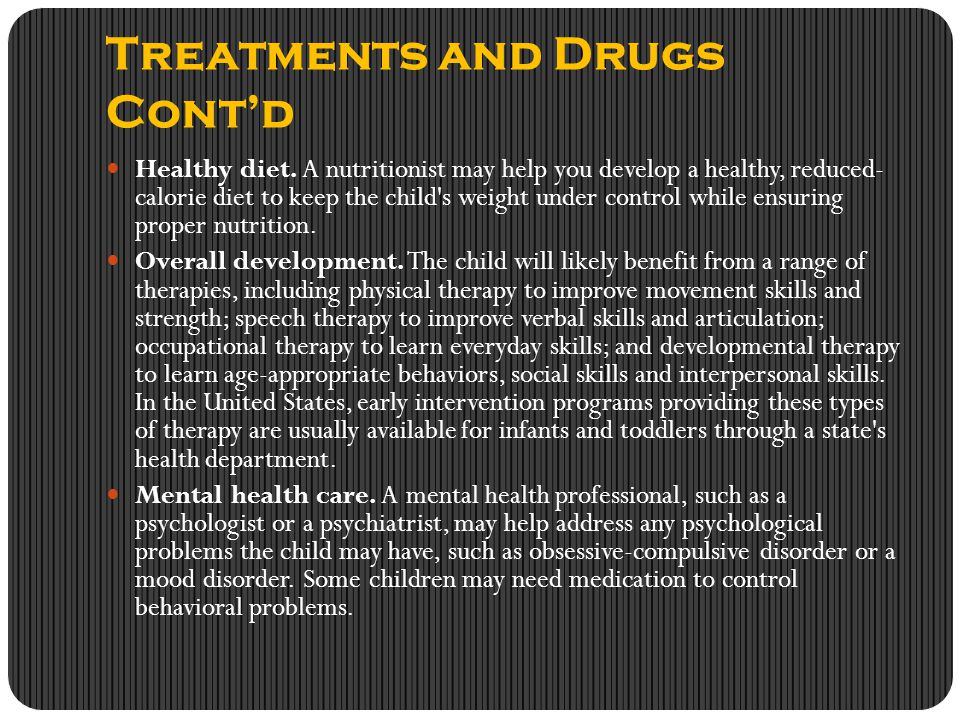 Treatments and Drugs Cont'd