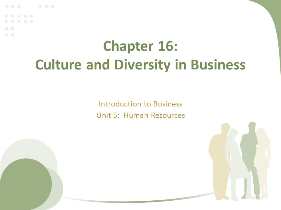 Chapter 16: Culture and Diversity in Business