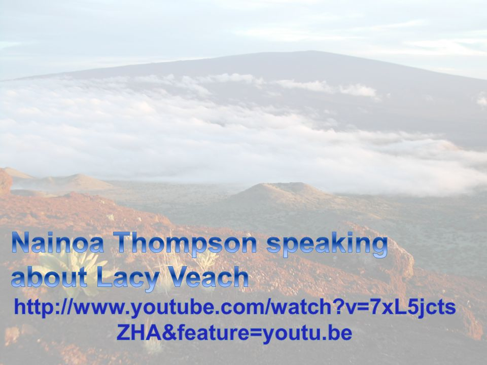 Nainoa Thompson speaking about Lacy Veach